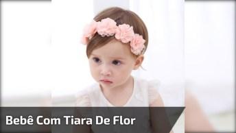 Bebê Com Coroa De Flor, Uma Linda Criança, Confira E Compartilhe!