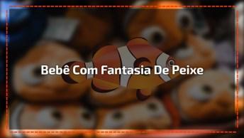 Bebê Fantasiado De Peixe Nemo, Uma Fofura Para Qualquer Mãe Se Apaixonar!