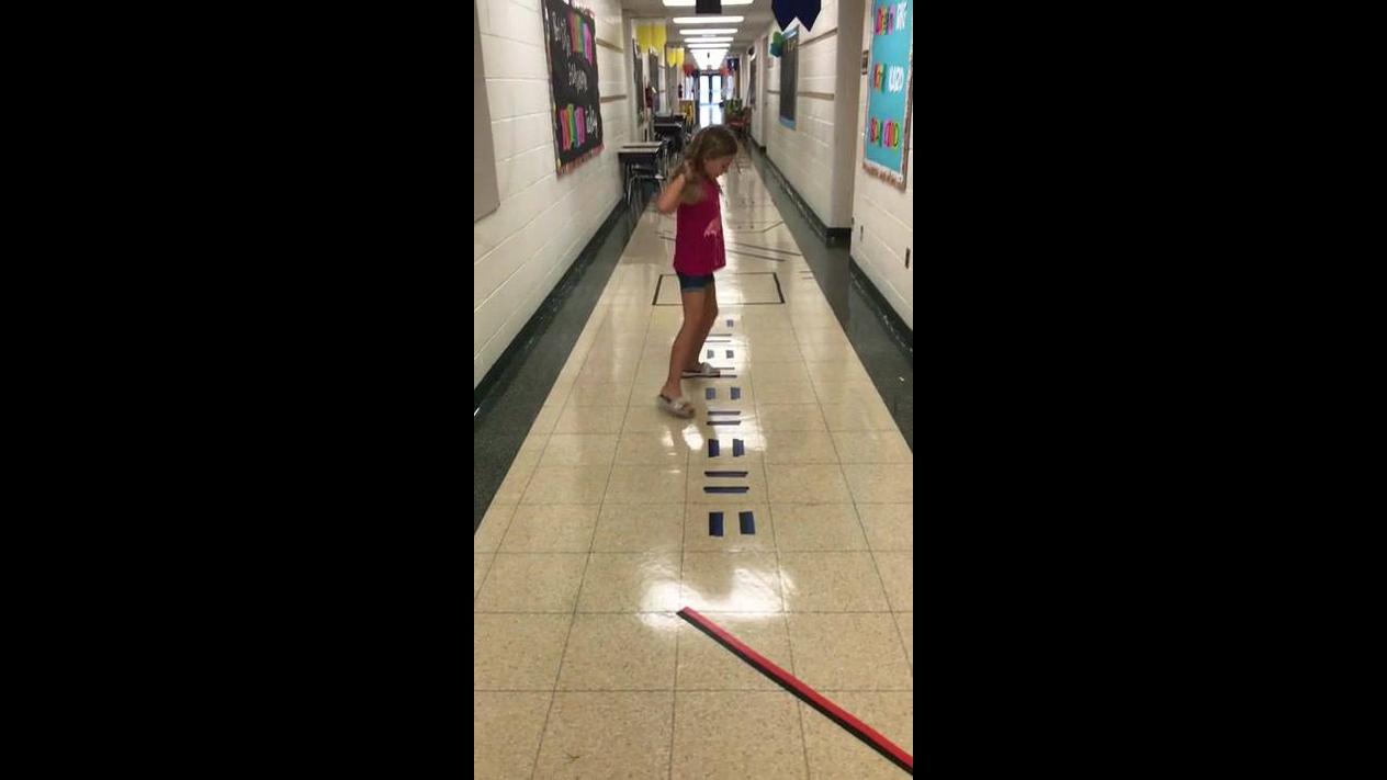 Circuito de exercícios para crianças