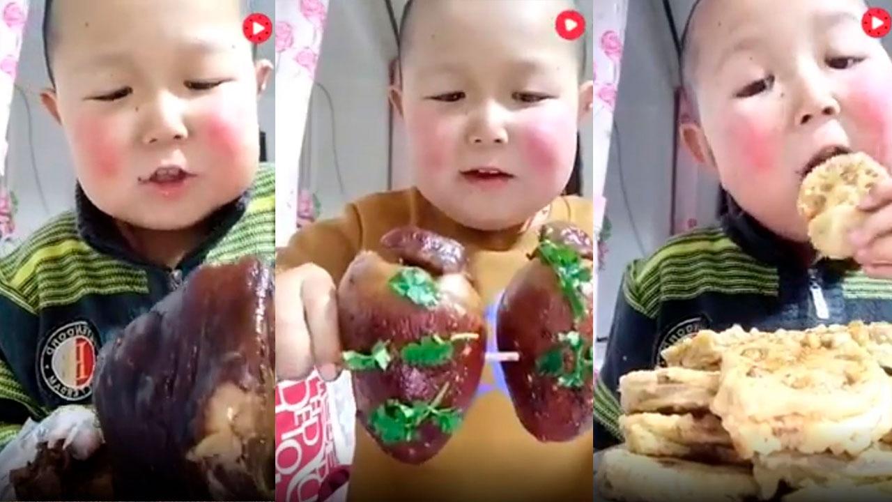 Criança comendo, esse ai tem apetite para dar e vender hein