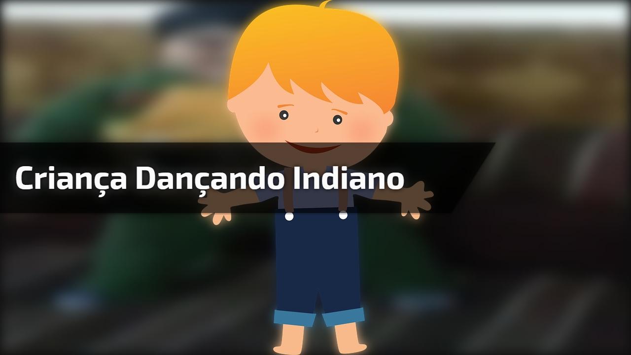 Criança dançando indiano