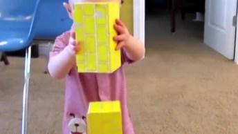 Criança Equilibrando Blocos - Veja Como Ele Se Divertiu Com O Resultado!