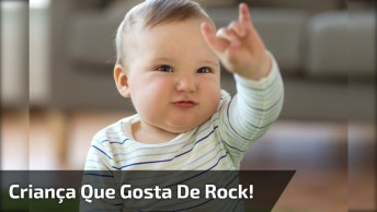 Criança Que Gosta De Rock Deste Pequeno, Esse Sabe Do Que Gosta Hein!