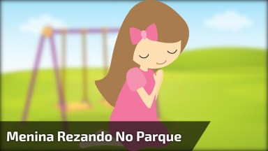 Criança Rezando No Balanço, Uma Cena Linda E Fofa, Confira!