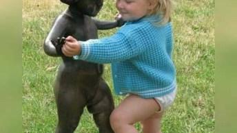 Crianças E Suas Inocências, Muito Fofo E Lindo De Se Ver!