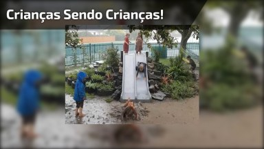 Crianças Sendo Crianças Neste Vídeo, Por Mais Momentos Assim!