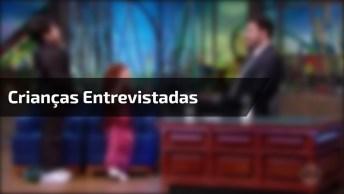Crianças Sendo Entrevistadas Por Danilo Gentili, Para Rir Muito!
