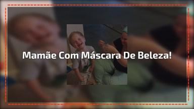 Crianças Tendo Reações Super Engradas Quando Veem A Mamãe Com Máscara De Beleza!