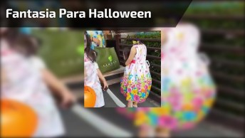 Fantasia Feminina Infantil Para Halloween, A Ideia É Bem Interessante!