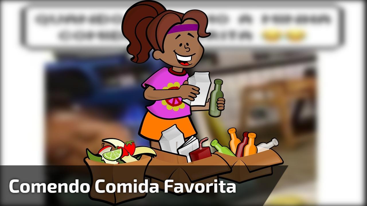 Garotinha fofa comendo sua comida favorita, veja como ela é simpática!!!