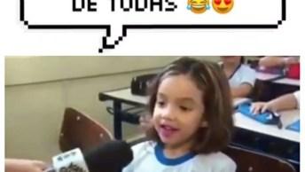 Garotinha Viraliza Na Internet Ao Dar Entrevista Das Voltas Aulas, Confira!
