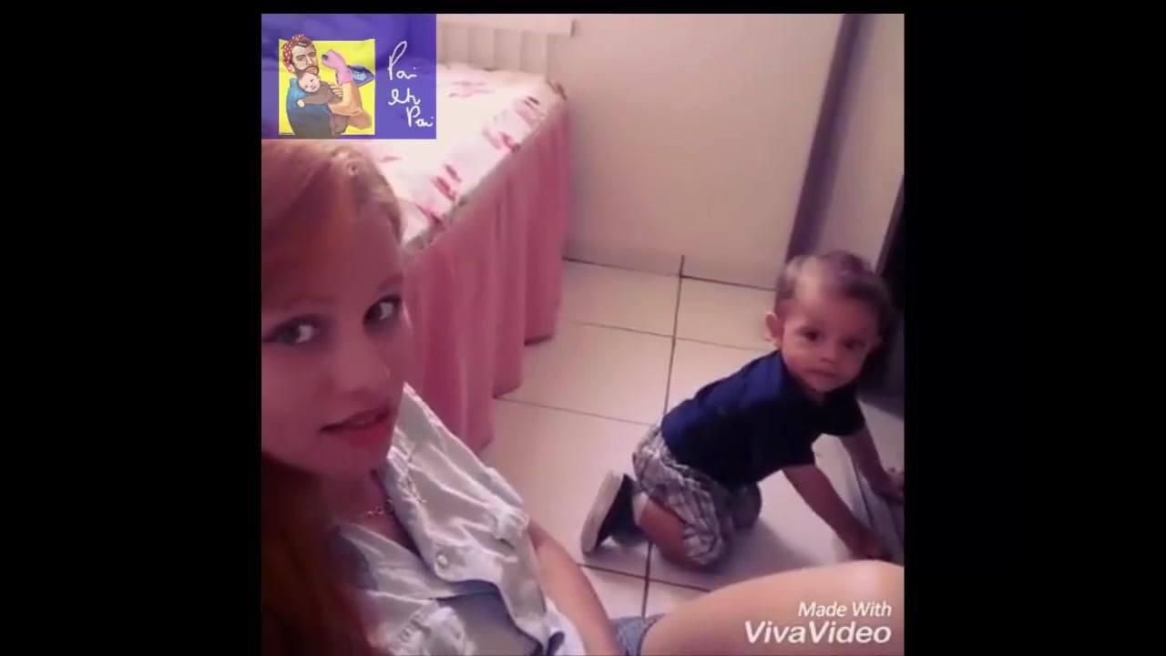 Mãe pede para bebê falar mamãe e veja o que ele fala