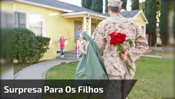 Pais Que Resolveram Fazer Uma Surpresa Para Os Filhos Voltando Da Guerra!