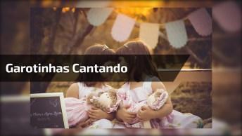 Veja Que Lindo Essas Crianças Cantando Com O Pai, Sensacional!