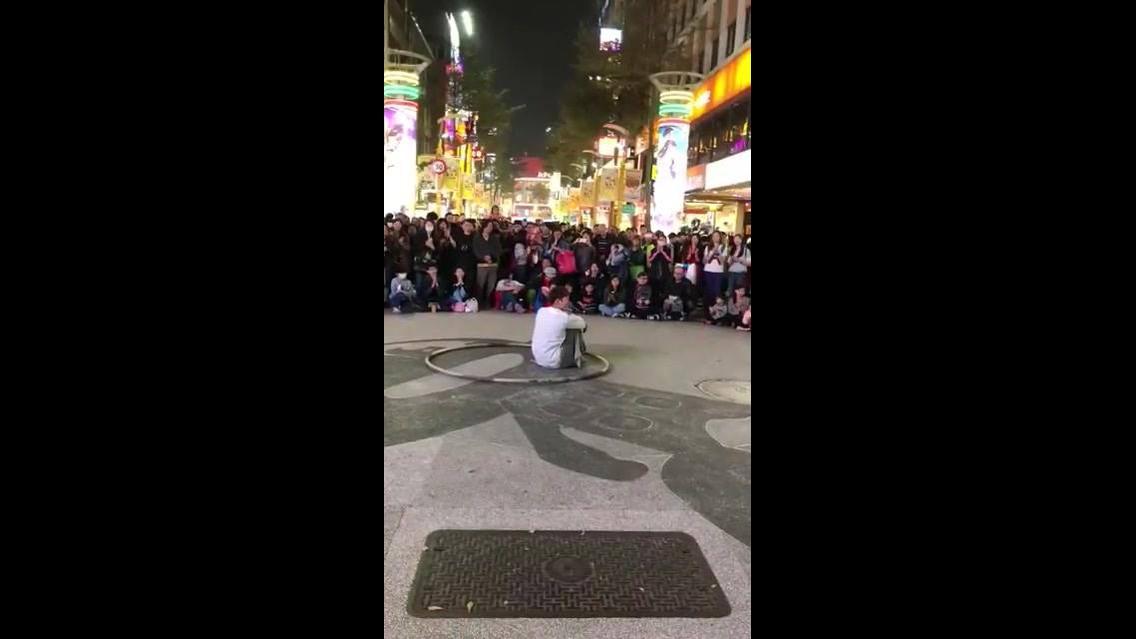 Apresentação de dança na rua