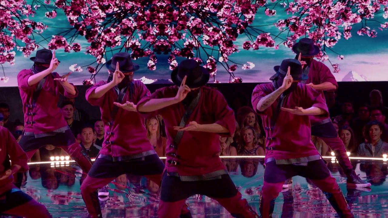 Apresentação de grupo de dança
