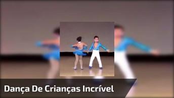 Casal De Crianças Fazendo Dança Espetacular, Muito Legal!