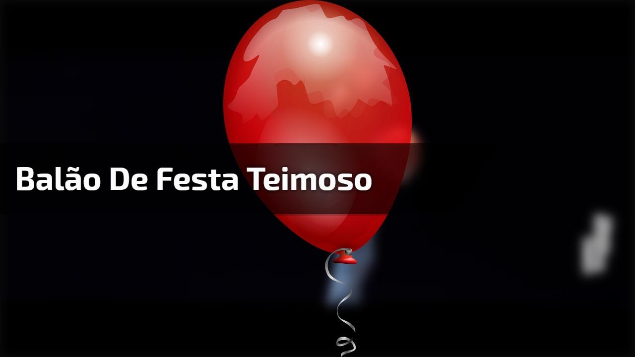 Balão de festa teimoso