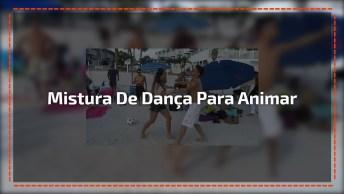 Dança Na Areia, Uma Mistura De Zouk, Salsa, Tango, Forró. . .