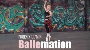 Garota Dançando Um Estilo De Balé Diferente De Tudo Que Você Já Viu!