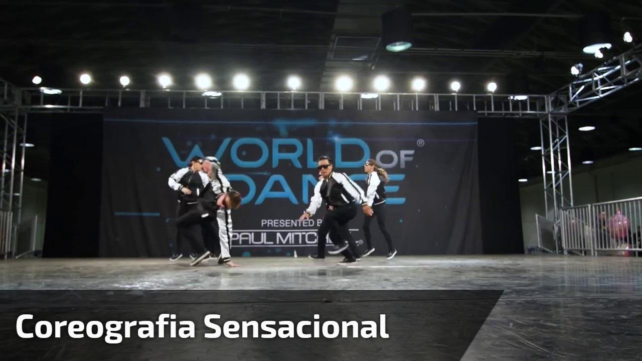 Grupo de dança com coreografia sensacional, vale a pena conferir!!!