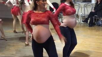 Irmãs Gravidas Arrasando Na Dança, Olha Só Como Elas Estão Radiantes!