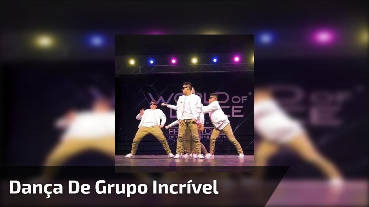 Dança de grupo incrível