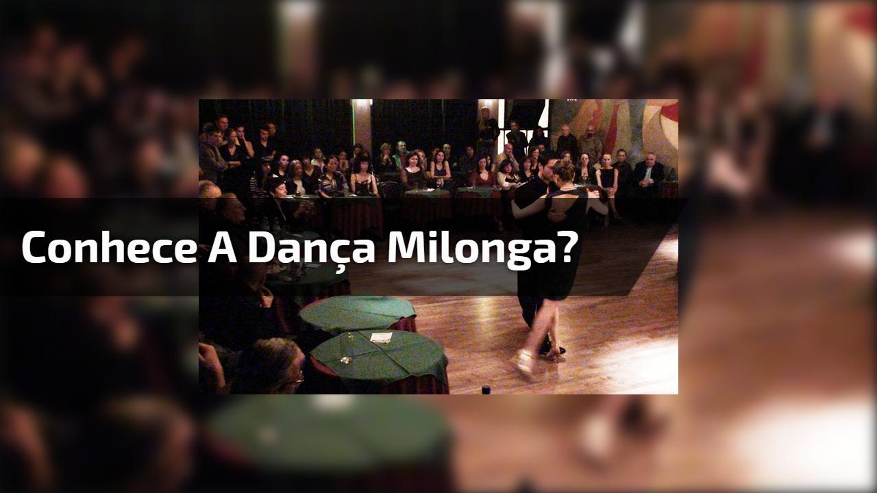Conhece a dança Milonga?