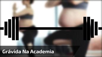 Grávida Com Barriga Enorme Na Academia, Que Incrível! , Confira!
