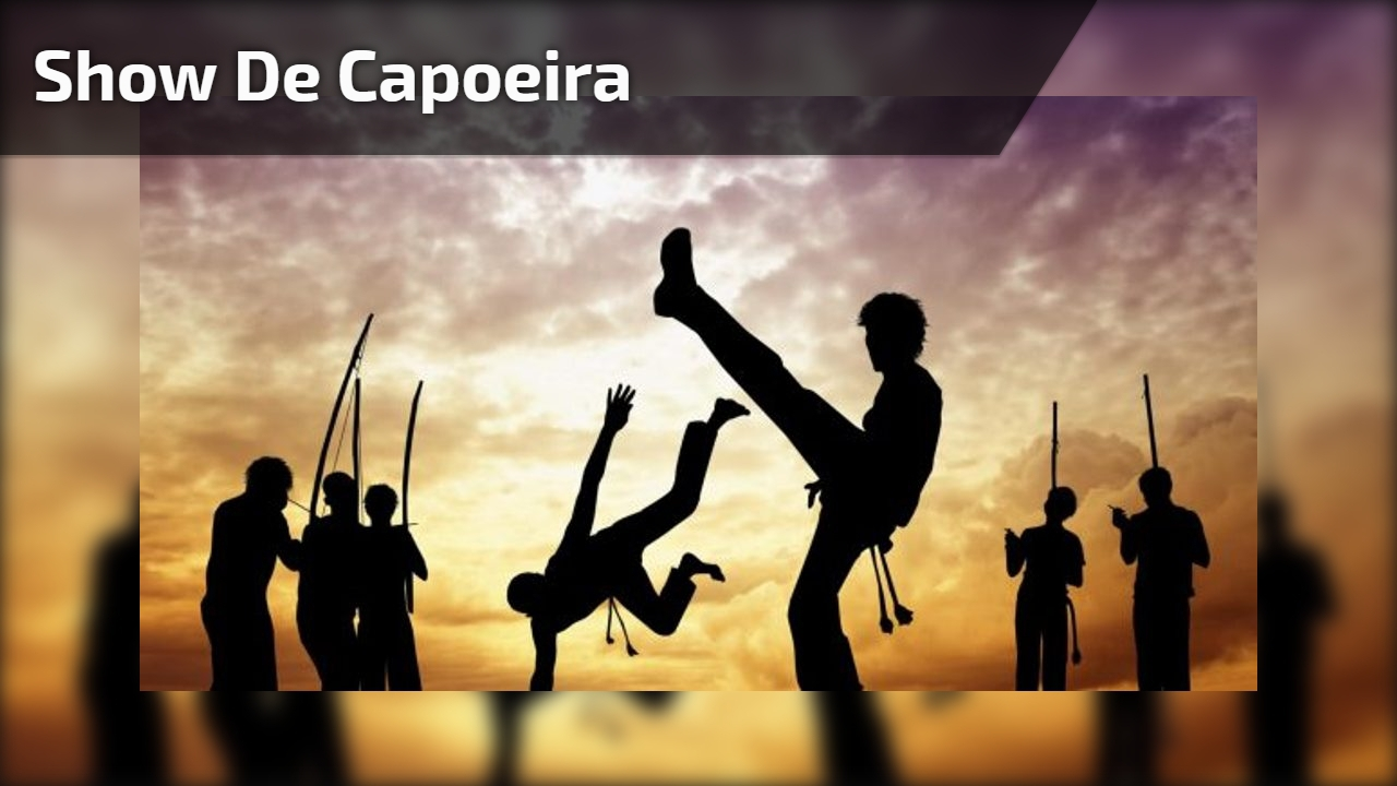Show de capoeira