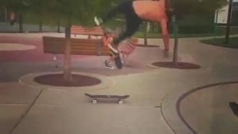 Pulando De Um Skate Para O Outro, Que Manobra Mais Radical Foi Essa?