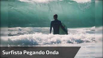 Surfista Pegando Onda Enorme, Essa Vai Ficar Para A História!