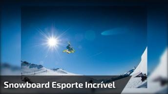 Video Legal De Pessoas Esquiando Na Neve, Que Salto Incrível!