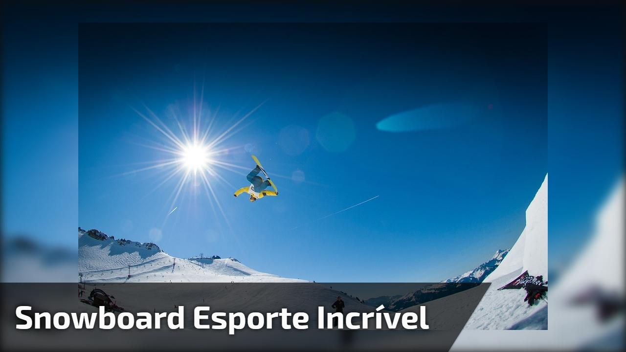 Snowboard esporte incrível