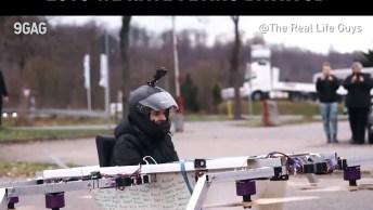 Cara Faz Uma Banheira Voar Com Hélices De Drones, Olha Só Que Louco!