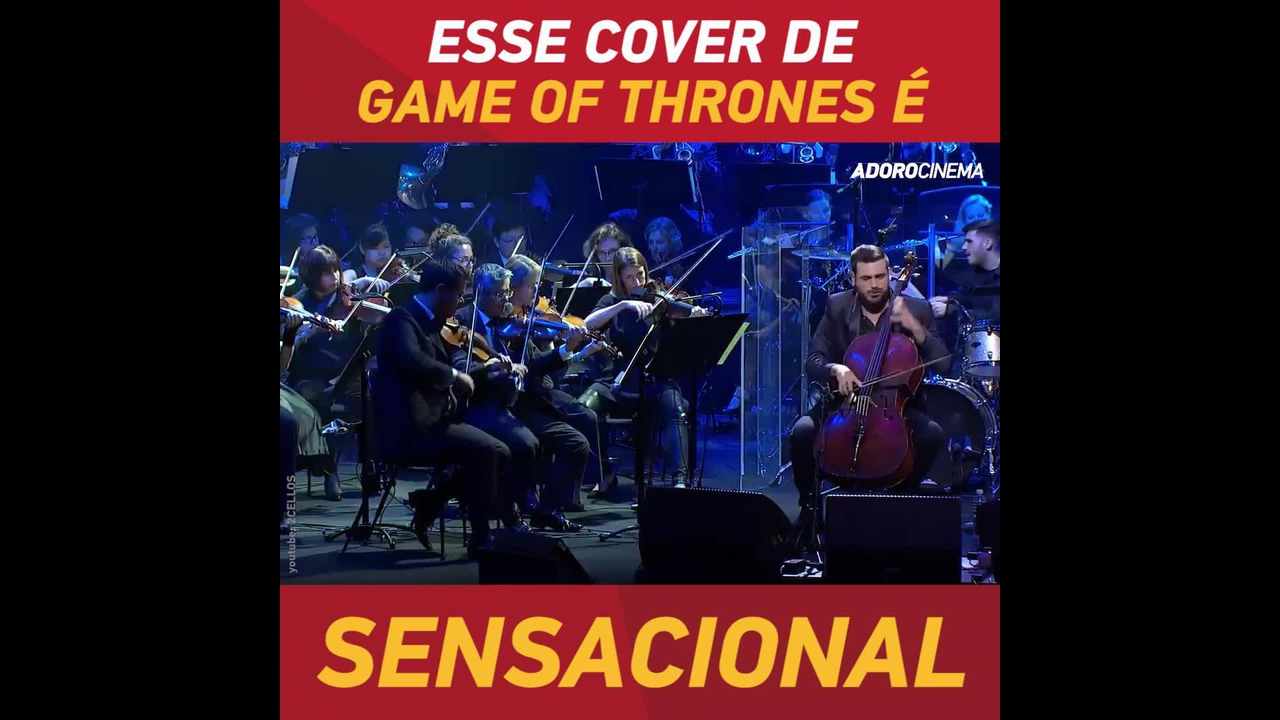 Cover da musica inicial da série Game Of Thrones