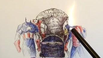 Desenho Em Homenagem Ao Criador De Super Heróis, Só Resta Agradecer!