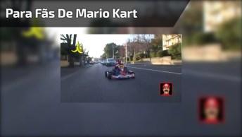 Esse Vídeo É Para Todos Fãs De Mario Kart, Kkk! Veja Só A Ideia Dos Caras, Kkk!