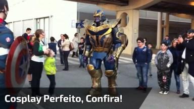 Fantasia Perfeita Do Personagem Da Marvel, O Vilão Thanos. . .