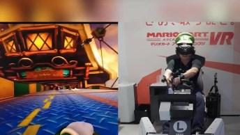 Jogo Mario Kart Com Realidade Virtual, É Muito Divertido!