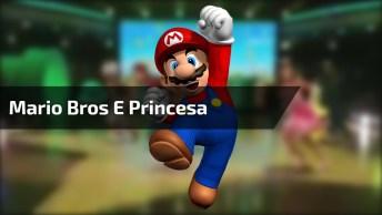 Super Mario Bros E Sua Princesa Dando Show Na Dança, Confira!