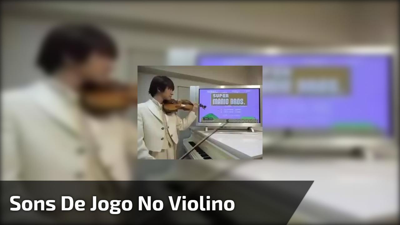 Sons de jogo no violino