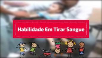 Enfermeiro Tirando Sangue De Garotinho, Veja A Habilidade Dele!