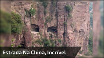 Estrada Impressionante Na China, Vejas As Curvas E A Altura Desta Estrada!