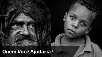 Experimento Social Menino Ao Lado De Morador De Rua, Quem Você Ajudaria?