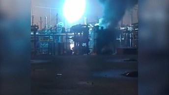 Explosão Em Fabrica Simplesmente Impressionante, Veja A Potencia Da Energia!