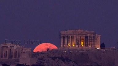 Imagens Da Super Lua Em Atenas, Na Grécia, Imagens Impressionantes!