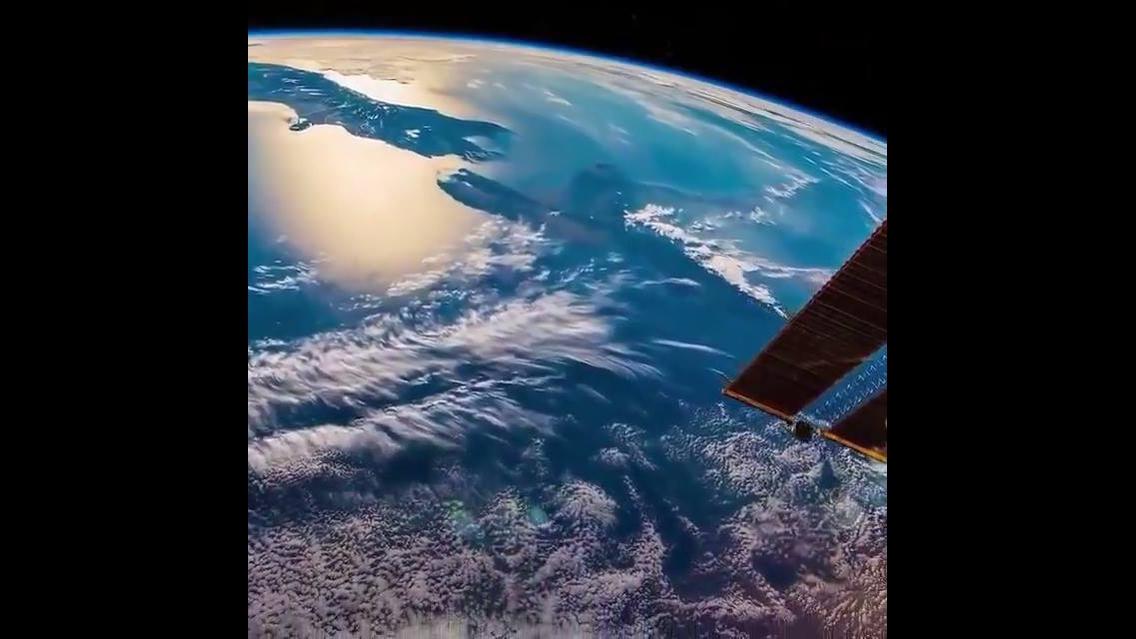 Imagens da terra filmadas do espaço