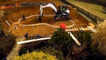 Impressionante A Construção De Uma Piscina, Olha Só Que Legal!