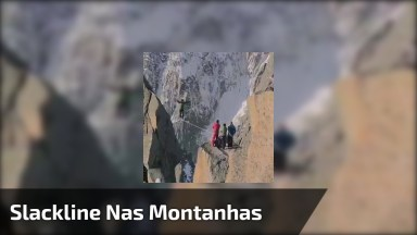 Impressionante Equilibrista Atravessando Corda Bamba Em Meio A Duas Montanhas!